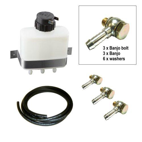 Brake / Clutch Reservoir Bottle Triple Outlet - Full Kit (BC026)