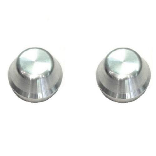 Hub Bearing Caps - Pair - Alloy