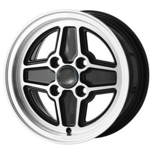 "Ford RS Replica Wheels Black 6.0 x 13"" - PCD 4 x 108mm (4.25"") (WRS6.0BLK)"