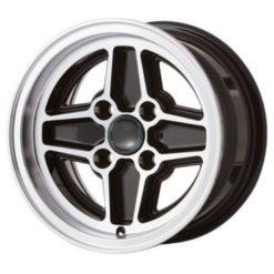 "Ford RS Replica Wheels Black 7.0 x 13"" - PCD 4 x 108mm (4.25"") (WRS7.0BLK)"
