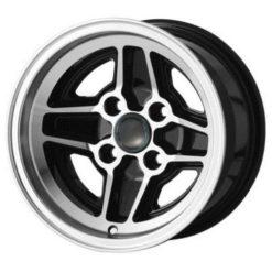 "Ford RS Replica Wheels Black 7.5 x 13"" - PCD 4 x 108mm (4.25"") (WRS7.5BLK)"