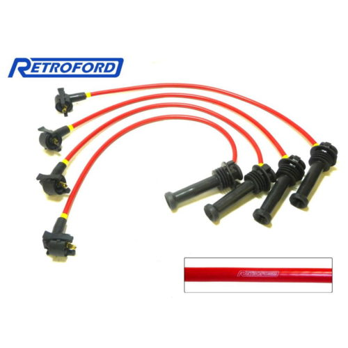 Zetec High Performance Ignition Leads - Silver Top - Red (Z024S-RED)