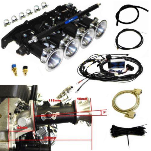Retroford Zetec - Angled 5 Degree Inlet- Omex 600 Throttle Body Full Kit (Pre Mapped) (Z027OMEX_600_STD)