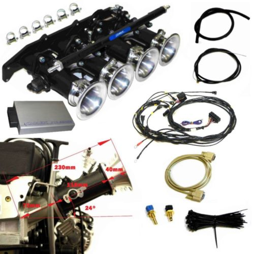 ST170 Zetec Throttle Body Kit 24 Degree Manifold With Full VVT Control ECU and Loom (Z027OMEX_ST170_SS)