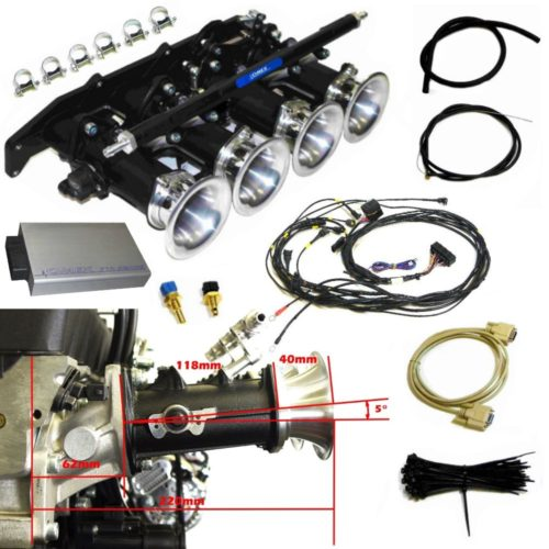 ST170 Zetec Throttle Body Kit 5 Degree Manifold With Full VVT Control ECU and Loom (Z027OMEX_ST170_STD)